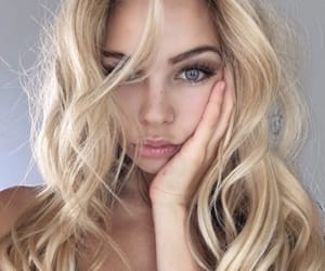 girl, beauty, and blonde image