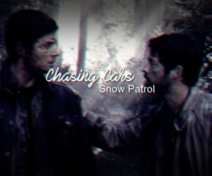 dean winchester, edit, and castiel image