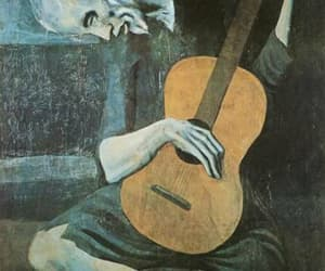 art, picasso, and guitar image