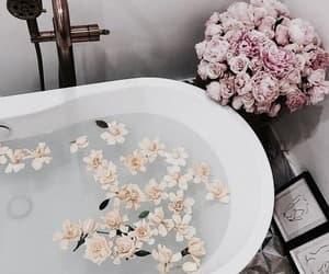 flowers, bath, and interior image