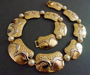 statement, glass pearls, and renaissance fair image