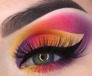 eye, lashes, and eyeshadow image