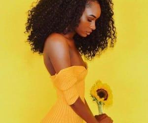 yellow, melanin, and beautiful image