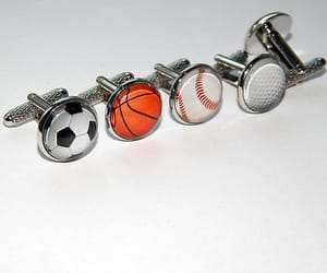 etsy, sports cufflinks, and football team image