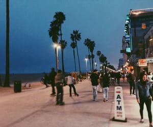 beach, boardwalk, and california image