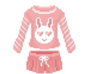 art, bunny, and pink image