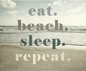 beach, eat, and quotes image