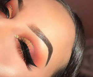 eyebrows, eyeliner, and glitter image