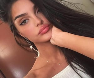 cateyeliner, eyebrows, and eyeliner image