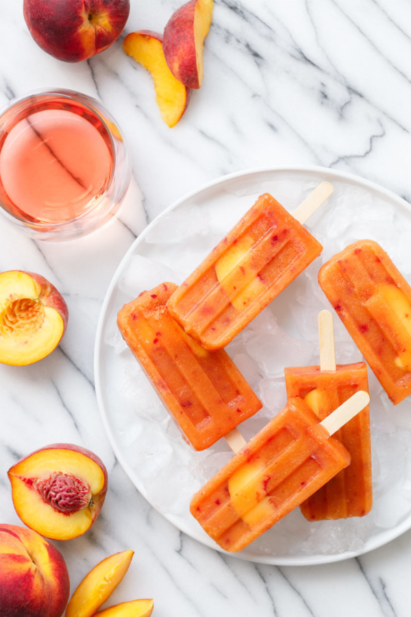 food, peach, and popsicle image