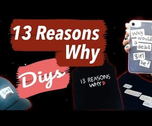 diy, 13 reasons why, and manualidad image