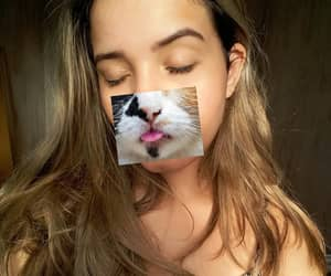 art, cabelo, and cats image