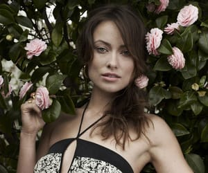 actress, flowers, and model image