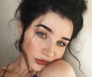 beauty, freckles, and lips image