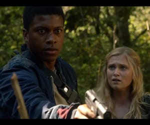 the 100, clarke griffin, and wells jaha image