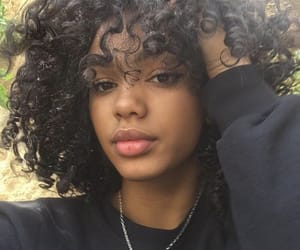 curly hair, beauty, and black image