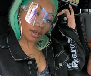 fashion, model, and teal hair image