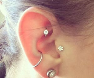 diamonds, ear, and piercing image