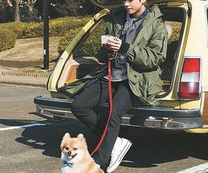 dog, v, and bts image