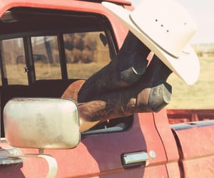 boots, cars, and cowboy image