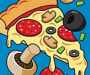food, like, and pizza image