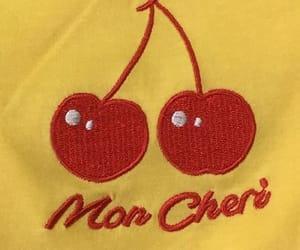 aesthetic, cherry, and yellow image