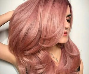 dyed hair, hair, and pink image