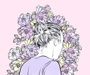 Harry Styles, pink, and wallpaper image