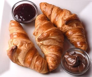 croissant, food, and nutella image