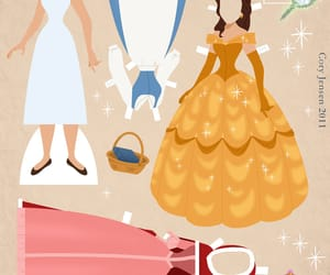 belle, disney, and dress image