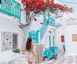 summer, Greece, and holidays image