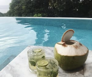 coconut, drink, and pool image