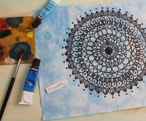 art, artist, and blue image