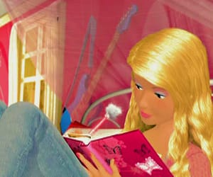 barbie, psd, and facebook image