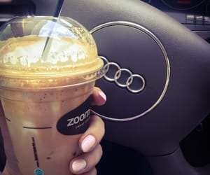 audi, car, and coffee image