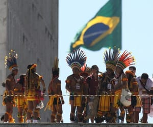 brazil, indians, and protest image