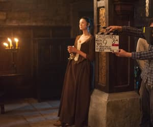 behind the scenes, Claire, and outlander image