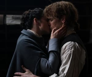 Claire, kiss, and outlander image