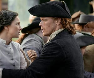 Claire, outlander, and jamie fraser image