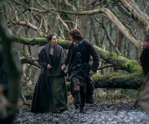 Claire, couple, and outlander image
