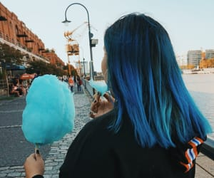 blue, bluehair, and candy image
