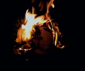 book, burn, and campfire image