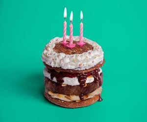cake, hbd, and candle image