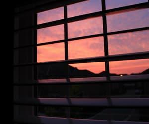 sky, sunset, and window image