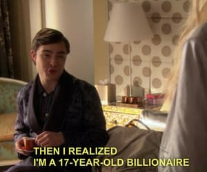 chuck bass, gossip girl, and funny image