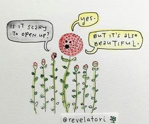 art, flowers, and words image