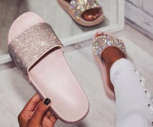 shoes, pink, and slide image