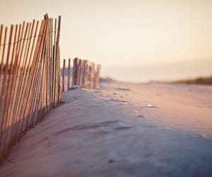 beach, pink, and sand image