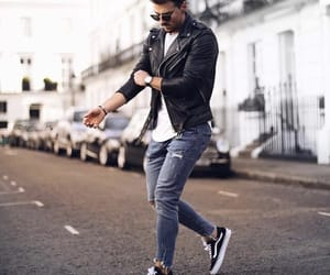 fashion, sneakers, and jeans image