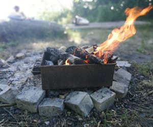 burn, camping, and fire image